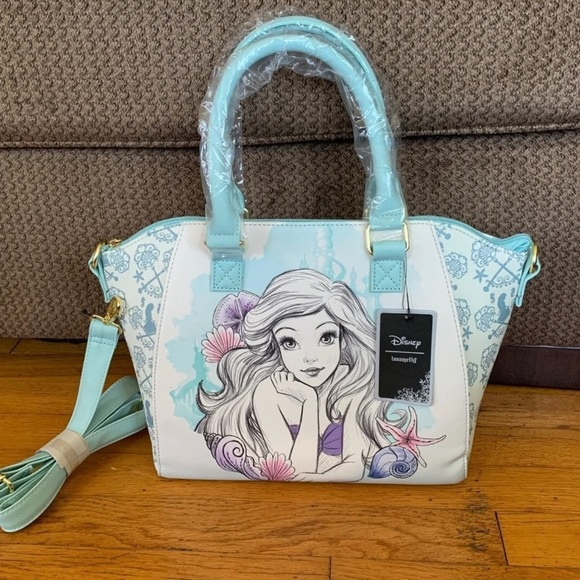 Disney loungefly ariel satchel bag
